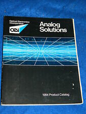 OEI OPTICAL ELECTRONICS INCORPORATED analog solutions PRODUCT CATALOG 1984