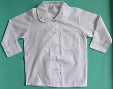 56c78dc3e40b59 NEW Girl Long School Formal shirt WHITE size 5