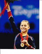 Us Olympian Shawn Johnson Signed Gold Medal 8X10