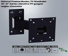 LCD LED TV TFT Monitor Wandhalter Wandhalterung 10 - 27 Zoll Neigbar Schwenkbar