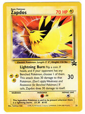 Zapdos Rare Pokemon Card Wizards Movie 2000 Black Star Promo #23