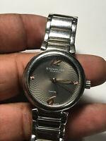 Unisex Silver Tone Sturhling Diamond Analog Watch