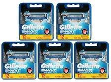 60 Gillette Mach3 Turbo Rasierklingen / 60er Set in 5x 12er OVP Pack Klingen