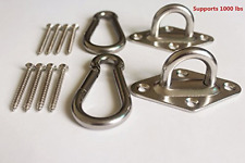 Heavy Duty Hanging Hammock Hooks Carabiners Kit Swing Chair 1000lb Capacity