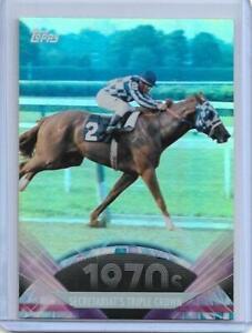 RARE 2011 TOPPS AMERICAN PIE ~ SECRETARIAT FOIL PARALLEL CARD #114  TRIPLE CROWN