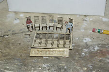 O scale laser cut chair kit, makes 6 wood chairs for use with lionel, MTH trains