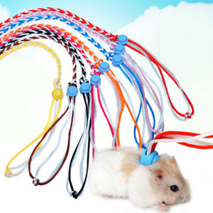 3pcs Pet Leash Lead Adjustable Hamster Strap Rabbit Harness Gerbil Cage Rope #t