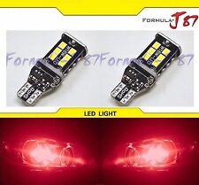 LED Light Canbus Error Free 912 Red Two Bulbs Back Up Reverse 3rd Brake Hood Bay