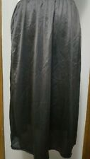 Vintage Sears Black Nylon With Lace Half Slip Size Large 1/2 Slip Skirt