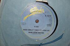 """MIAMI SOUND MACHINE   DR BEAT    7""""  SINGLE    EPIC RECORDS  A 4614   1984"""