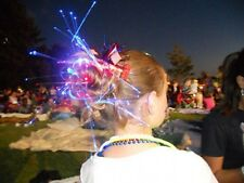 New Years Eve Party Lights Fiber Optic Decoration Hair LED Glow Costume Clips