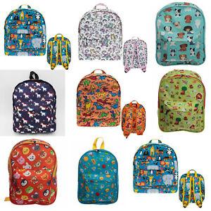 Kids Boys Girls School Nursery PE Backpack Rucksack Bag Zoo Dinosaur Unicorn