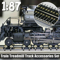 NEW 1/87 Model Train Wheels Ho Scale Metal Treadmill Track Accessories Set