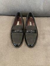 Salvatore Ferragamo Men's Black Patent Leather Tuxedo Shoes Loafers Size 11.5 EE