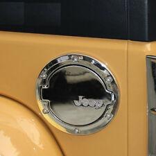 1x Fuel Door Cover Filler Gas Diesel Tank Cap For Jeep Wrangler JK Unlimited SIL