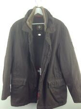 Mens strellson swiss cross edition brown lined jacket size 50 stock No.Y493