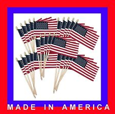 4 x 6 inch stick flags * Lot Of 40 * Made In U S A
