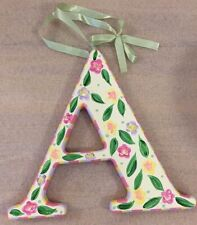 "Initial Letter ""A"" wood floral home decor 7.75"" x 8.75"""