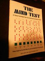 LIBRO : THE MIND TEST -PSYCHOLOGICAL TESTS - RITA AERO - 1981 *****