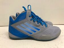 Adidas Men Gray/blue ankle tennis shoes, size US 12