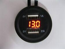 USB caricatore per auto e moto e camion con voltmetro 12/24V leggere l'articolo