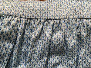 Custom (Pair) French Blue Dust Ruffle Twin Size Bed Skirt