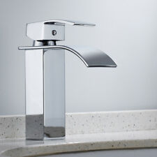 Waterfall Basin Sink Tap WOW Square Mixer Chrome Mono Luxury Bathroom...