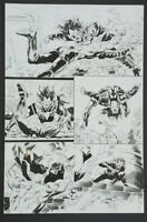Shadowman Original Comic Art by Bob Hall. Valiant. Issue #22