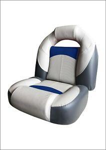MARINE BOAT BASS SEAT - GREY/CHARCOAL/BLUE (75132GCB) yacht fishing rib