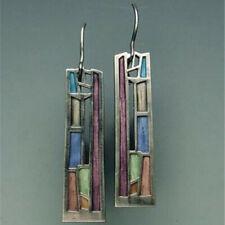 Hook Women Wedding Dangle Drop Jewelry Vintage 925 Silver Turquoise Earrings Ear