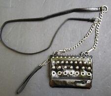 Madden Girl Studded Purse Mirror Rivets Wristlet Wallet