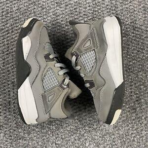 Nike Air Jordan IV 4 Cool Grey 2019 Retro BT TD Toddler Size 10C BQ7670-007