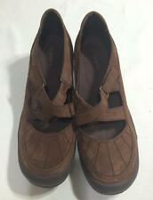 Easy Spirit Women Brown Leather Strapped Shoes Velcrose Fastened 8.5 Medium