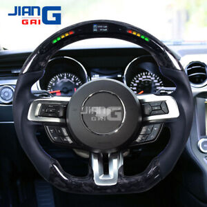 LED/LCD Forged Carbon Fiber steering wheel Fit in 2015+ Mustang GT Shelby
