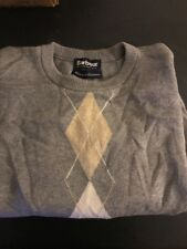 Barbour Argyle Sweater XS Extra Small Made In Scotland Cashmere Blend