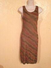 JADE by Felicia Camo Brown Olive Beige Green Maxi Dress Sz S Bodycon Hm Asos XX1
