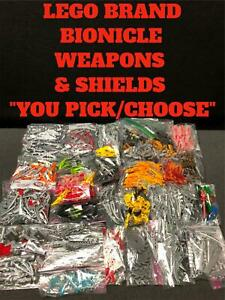 """LEGO BIONICLE REPLACEMENT PARTS WEAPONS SHIELDS CLAWS FANGS """"YOU PICK"""""""