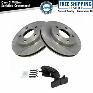 Front Metallic Disc Brake Pads & Rotors Kit for Buick Chevy Olds Pontiac