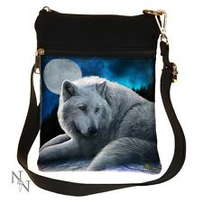 SHOULDER BAG WHITE WOLF GUARDIANS OF THE NORTH GUARDIAN MOON LADIES NEW