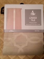 Nwt Spencer Home Decor Natural Linked Tile 52x84 Curtain Panel