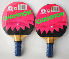 RARE VINTAGE 80'S PING PONG PADDLES TABLE TENNIS BY GLOBO NEW SEALED BLUE !