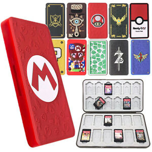 For Nintendo Switch 24 Card Case Holder Storage Box Travel Carry Protect Cover