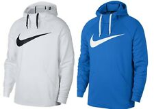 Nike Mens Therma Swoosh Training Pull Over Hoodie Size X-Large / White & Blue