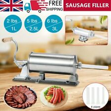 More details for 304 stainless steel meat sausage filler stuffer maker horizontal machine kit uk