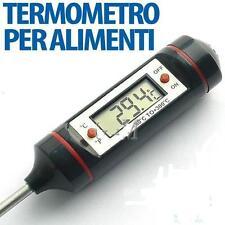 TERMOMETRO CUCINA LCD PER ALIMENTI E BEVANDE. MISURA DA + 50 A -300 GRADI (01)