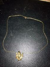 """Pendant  Necklace with 9"""" Goldtone Chain - Elf on Swing"""