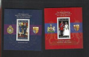 Gibraltar sc#1266,1283 (2011) Souvenir Sheets MNH