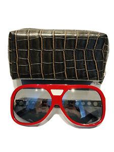 Michael Kors MK Majorca MKS467 Red Frame Black Lenses Sunglasses