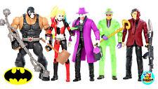 DC Batman Missions Bane Joker Harley Quinn Two-Face Riddler Action Figures USED