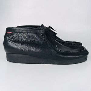 Clarks Padmore Men's 11 M US Chukka Ankle Boots All Black Leather 79161